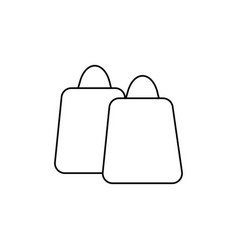 shopping bags icon vector image