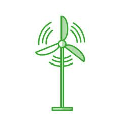 wind turbine energy vector image