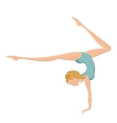 Beautiful gymnastic girl performing vector image