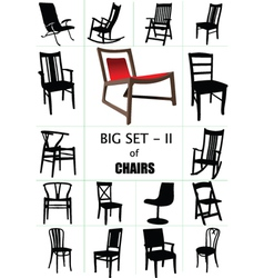 designer chair set vector image vector image
