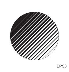 Halftone striped circle vector image