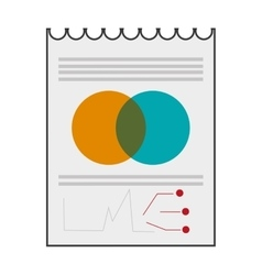 paper diagram business icon vector image vector image