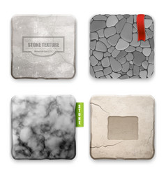 realistic stone texture design concept vector image