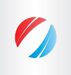 red blue abstract background circle vector image