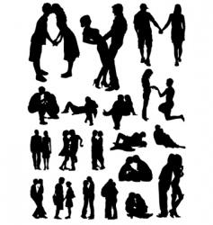romantic couples set vector image vector image