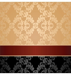 seamless pattern floral decorative background maro vector image vector image