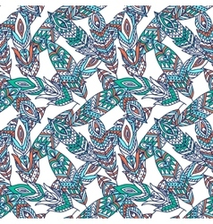 Seamless Pattern with Ethnic Feathers vector image vector image