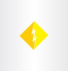 thunder logo icon symbol sign vector image vector image