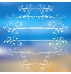 Borders and monograms set in vintage style for vector image