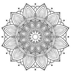 lace ornament mandala vector image