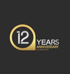 12 years anniversary celebration simple design vector