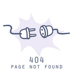 404 page not found error internet connection page vector
