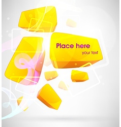 Abstract 3D Block Design vector image
