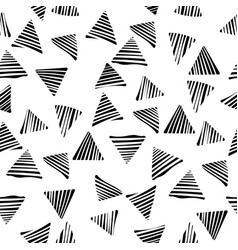 abstract geometric white line in triangle vector image