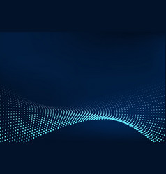 Abstract particle blue template design artwork vector