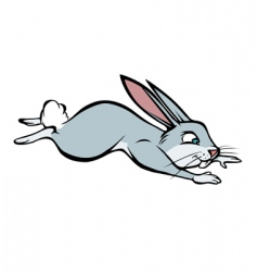 angry rabbit leaping vector image