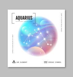 Astrology aquarius zodiac constellation vector