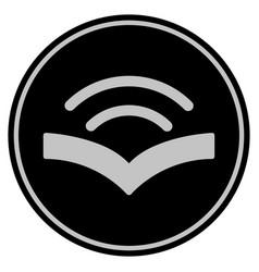 Audiobook black coin vector