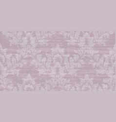 baroque pattern texture royal fabric vector image