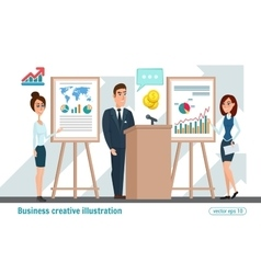 Business professional work team Business meeting vector image
