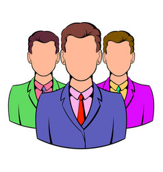 business team icon cartoon vector image