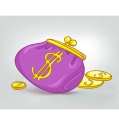 cartoon wallet vector image