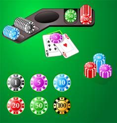 casino design chips vector image
