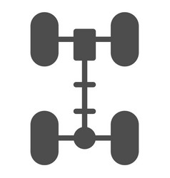 Chassis solid icon wheel vector