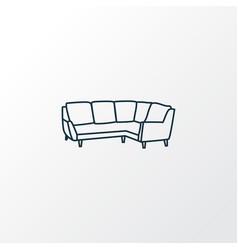 corner sofa icon line symbol premium quality vector image