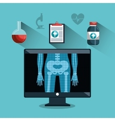 Digital healthcare different services medical vector