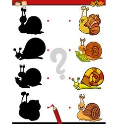 Education shadows task cartoon vector