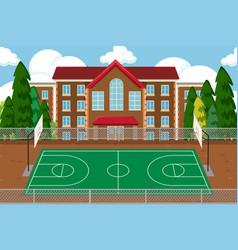 Empty school sport playground vector