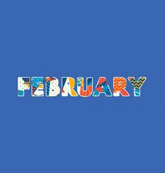 February concept word art vector