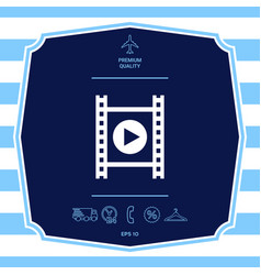 film strip with play graphic elements for your vector image