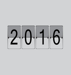 Flip board 2016 vector