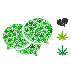Forum messages mosaic of marijuana vector