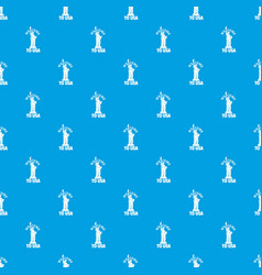 freedom statue pattern seamless blue vector image