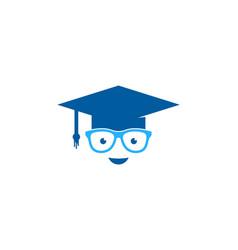 Geek education logo icon design vector