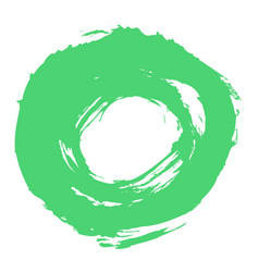 Green brushstroke circle form vector
