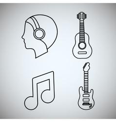 Guitar man music sound instrument vector