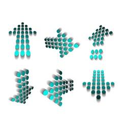 halftone arrows vector image