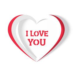Heart i love you handmade vector