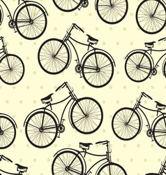 hipster bike patern resize vector image