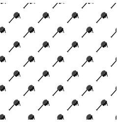 Honey spoon pattern vector