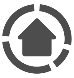 House Diagram Flat Icon vector image