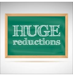 Huge reductions - inscription chalk vector