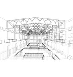 industrial zone sketch vector image