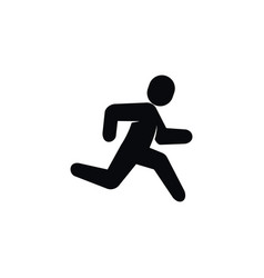 isolated exercise icon jogging element can vector image