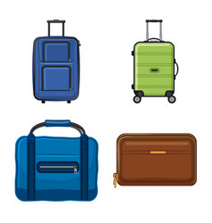 isolated object of suitcase and baggage logo set vector image