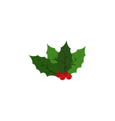 kissing bough color icon element of christmas and vector image